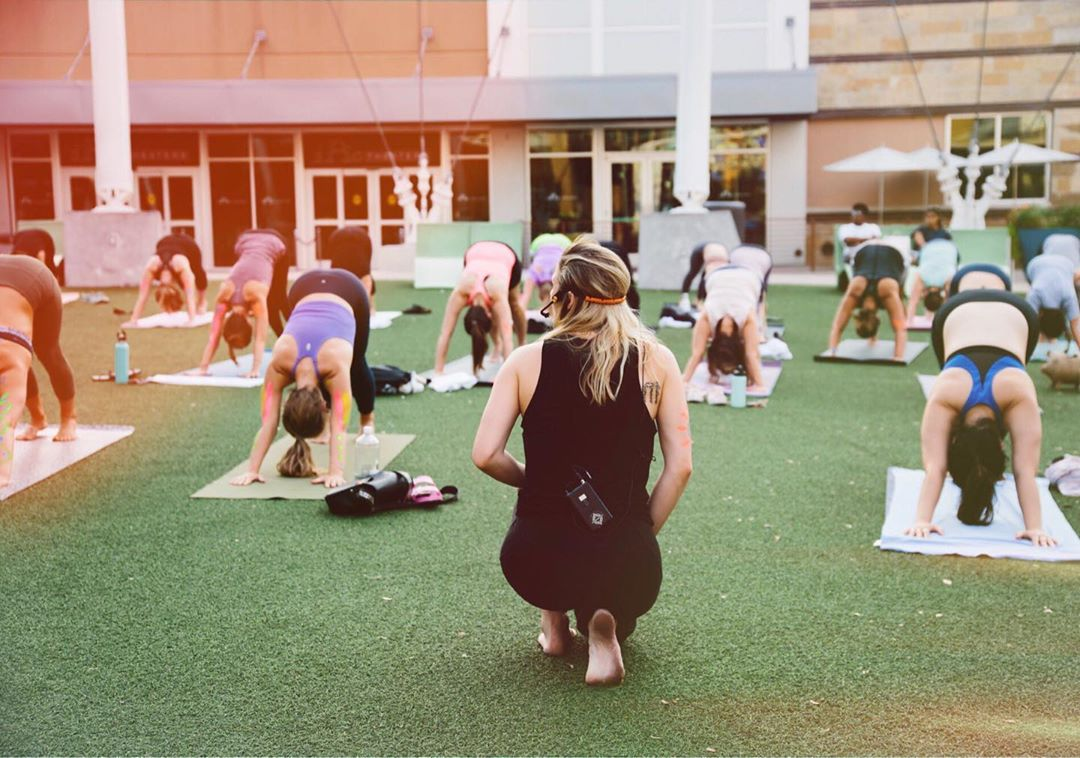 Rise + Yoga: Fall Series at the Domain / photo by Riley Blanks