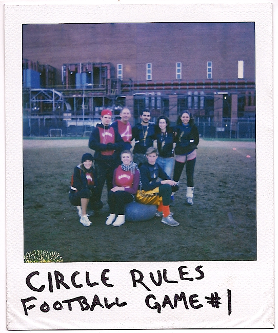 2006 - Greg Manley, a senior at New York University's Experimental Theater Wing, decides to combine art and sport through devising Circle Rules Football
