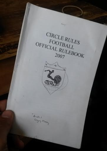 2007 - The first ever rulebook of Circle Rules Football is created.Check out that retro crest!