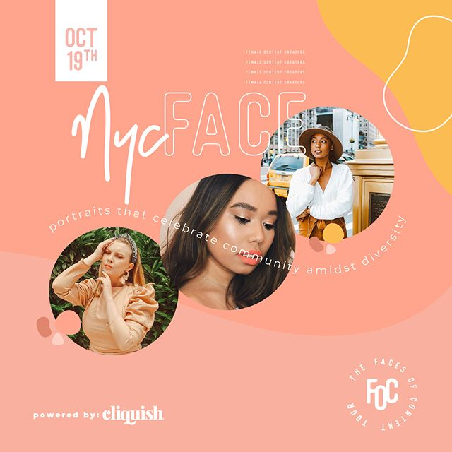 TAG NEW YORK BLOGGERS    We're gearing up for the New York stop of the #FacesofContentTour and we couldn't be more thrilled to join some of our big apple #CliquishGang next week! Eek!! Here's to some of the amazing women who've been approved (tagged above) and the ones who received congratulations as our FIRST participants in the tour – we're EXCITED to execute this groundbreaking campaign alongside YOU!!! ▫ If you're in or around the New York area and would like to join us next Saturday October 19th, our application is still open for a limited time! Simply click the link in our bio and select Faces of Content Atlanta to apply today! ▫ And if you're in Los Angeles or Chicago we're headed to you next! Click the link in our bio to submit an application for your city today!