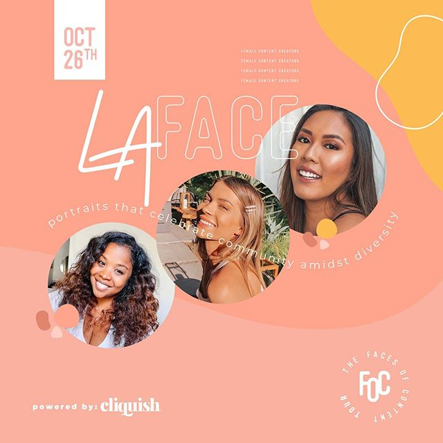 TAG LOS ANGELES BLOGGERS || We're gearing up for the Los Angeles stop of the#FacesofContentTour and we couldn't be more thrilled to join some of our westcoast#CliquishGangnext week! Eek!! Cheers to some of the amazing women who've been accepted as a LAX Face (tagged above) and the ones who received congratulations as our LAX participants in the tour – we're EXCITED to execute this groundbreaking campaign alongside YOU!!! ▫ If you're in or around the Los Angeles area and would like to join us next Saturday October 26th, our application is still open for a limited time! Simply click the link in our bio and select Faces of Content Los Angeles to apply today! ▫ And if you're in Chicago we're headed to you for the FINALE you DON'T WANT TO MISS!!! Click the link in our bio to submit an application for Chicago today!