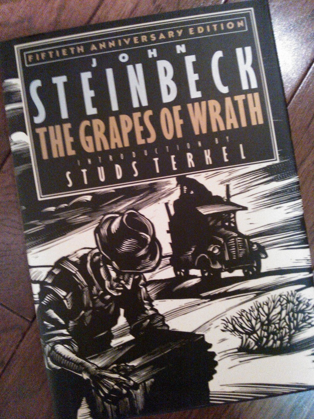 My personal copy of Steinbeck's Grapes of Wrath. October 2012.