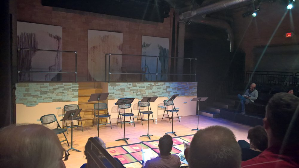 Empty chairs awaiting actors for a reading of my friend Abby Koenig's new play. Houston, Texas. January 25, 2016.