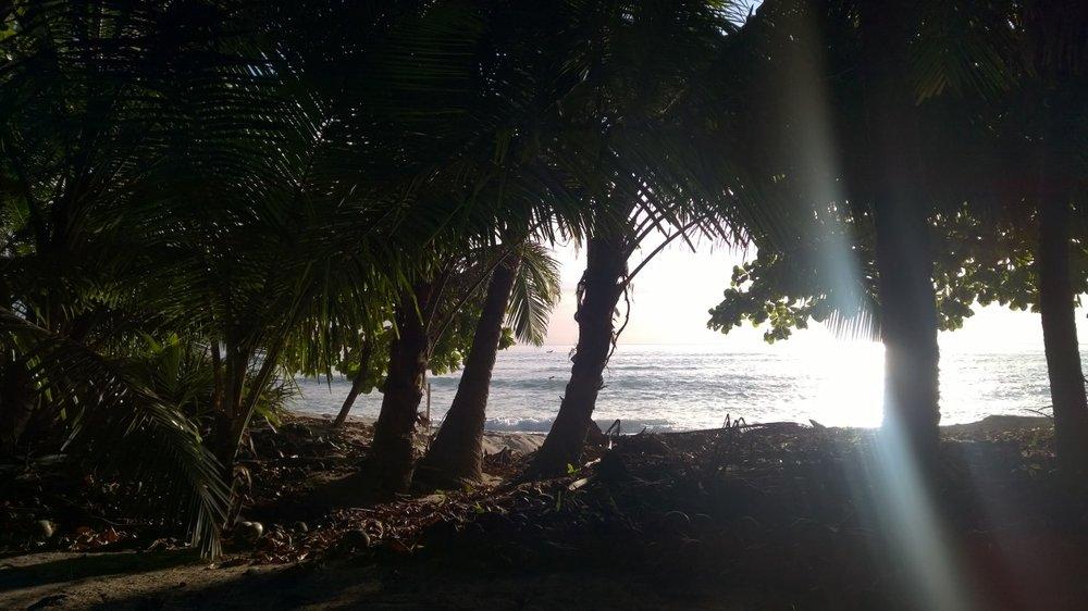 A stretch of private beach at sunset. Florblanca, Santa Teresa, Costa Rica. December 9 2014.