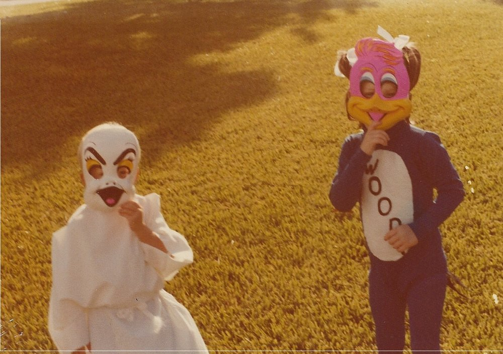 My Woody Woodpecker Halloween costume. My mother made it for me (except for the mask). October circa 1980.