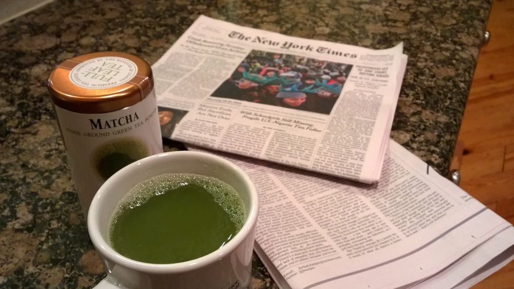 New Year's Day should always include the bright, optimistic green of matcha. January 1, 2015.