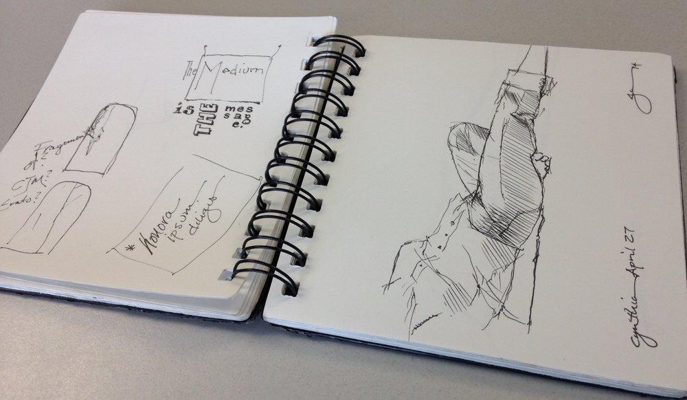 Jon C. Lundell's sketchbook. September 29, 2014.