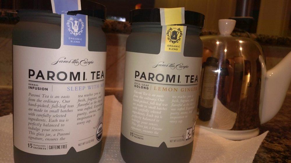 My Paromi herbal tea selections. September 7, 2014.