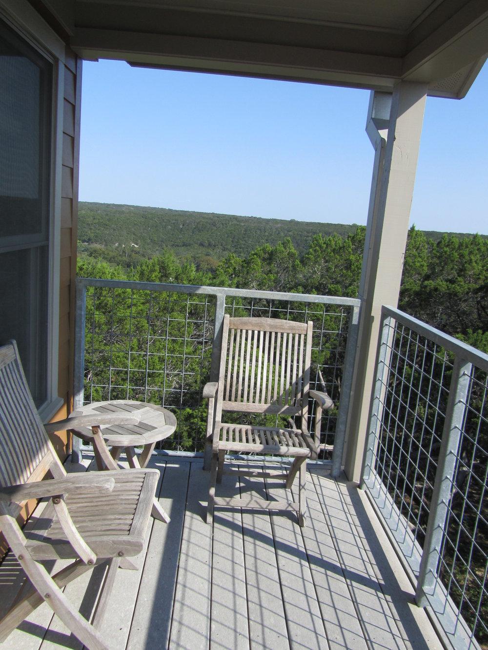 My porch at Travaasa Austin. September 2012.