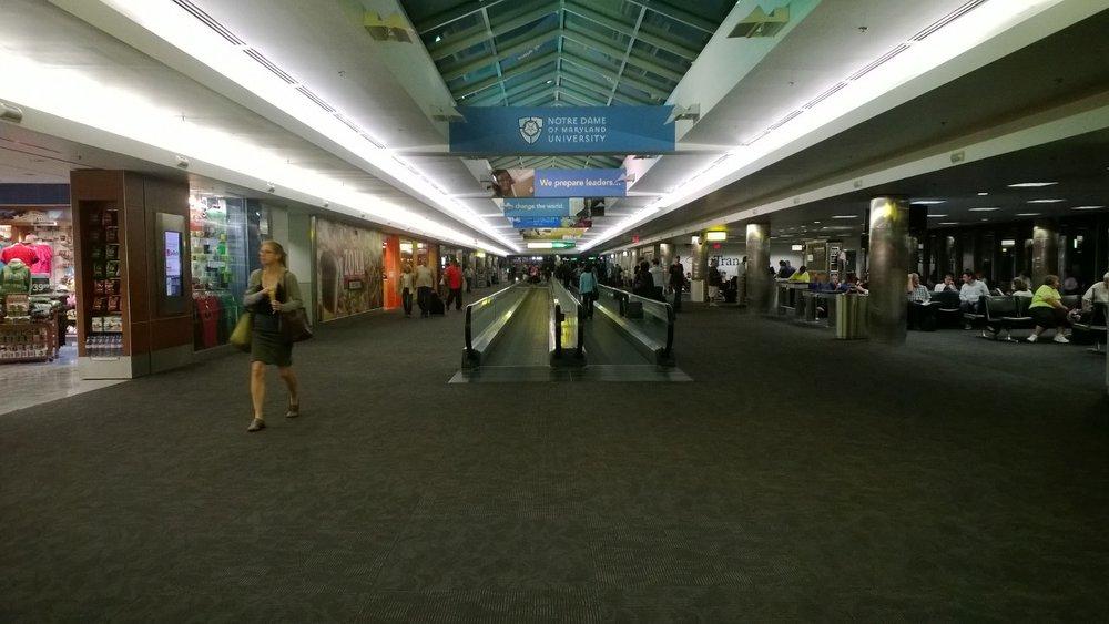 A terminal in Baltimore-Washington Airport. October 5, 2013.