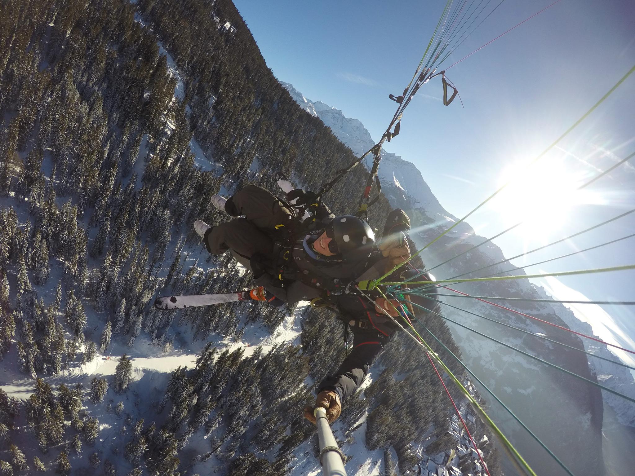 Proof that Leslie paraglided. Verbier, Switzerland, December 2018.