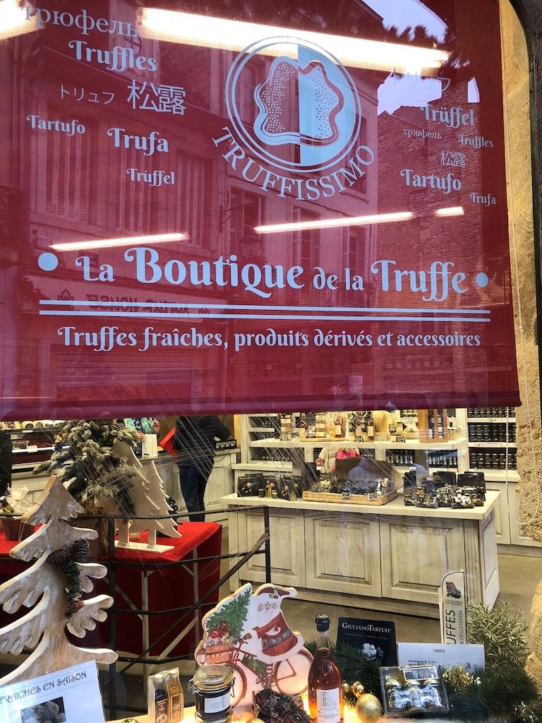 La Boutique de la Truffe on the Parcours de la Chouette. The fragrance! Dijon, France, December 2018.