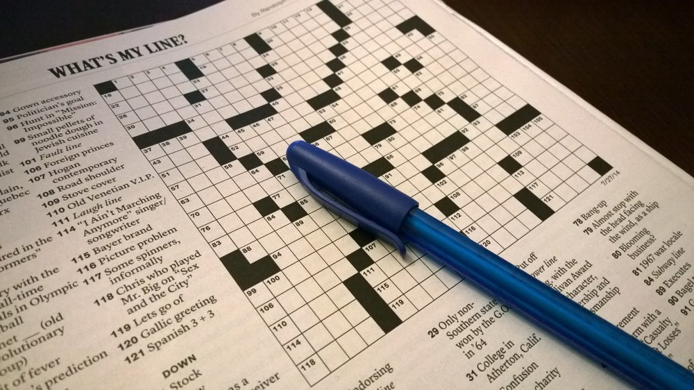 Getting ready to dig into the Sunday New York Times crossword puzzle. July 27, 2014.