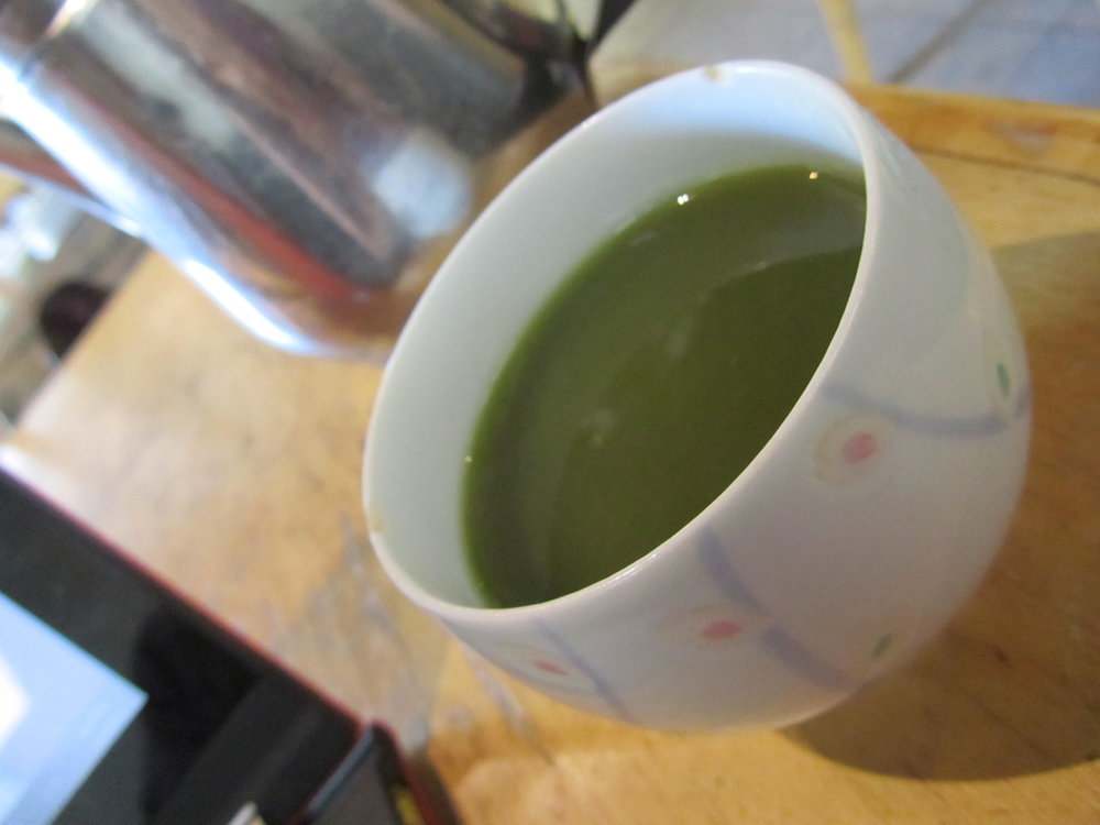 Matcha and a little work at Te. Houston, Texas. September 1, 2013.