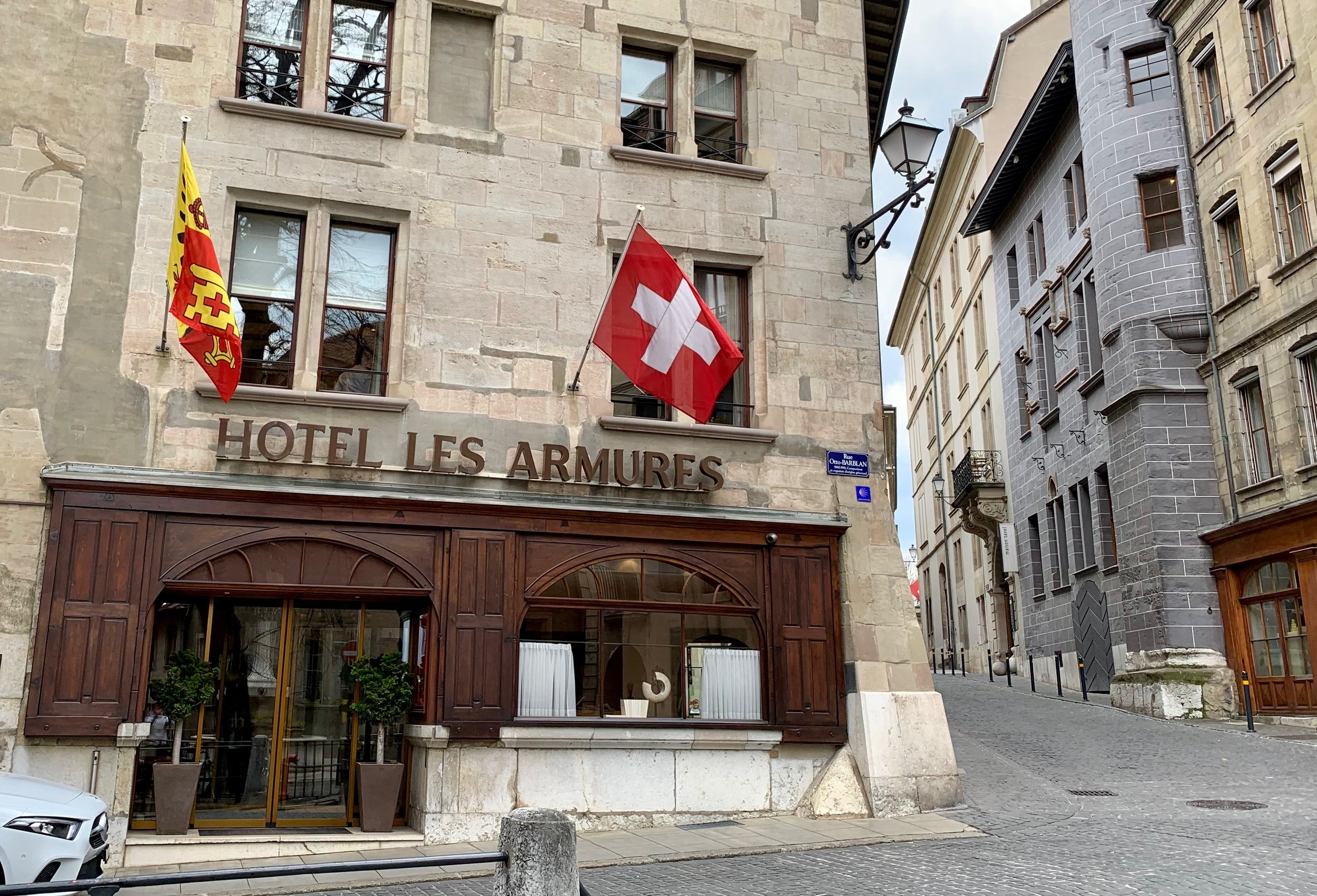 The Hotel les Armures. Geneva Old Town, March 2019.