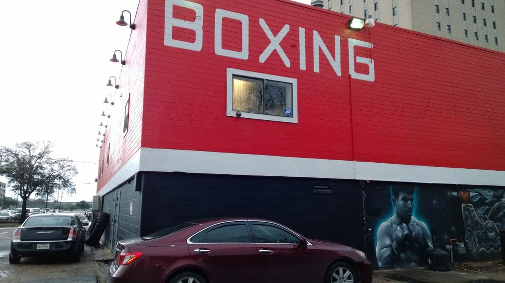 Lou Savarese's boxing gym in Houston, Texas, where I train. February 26, 2014.