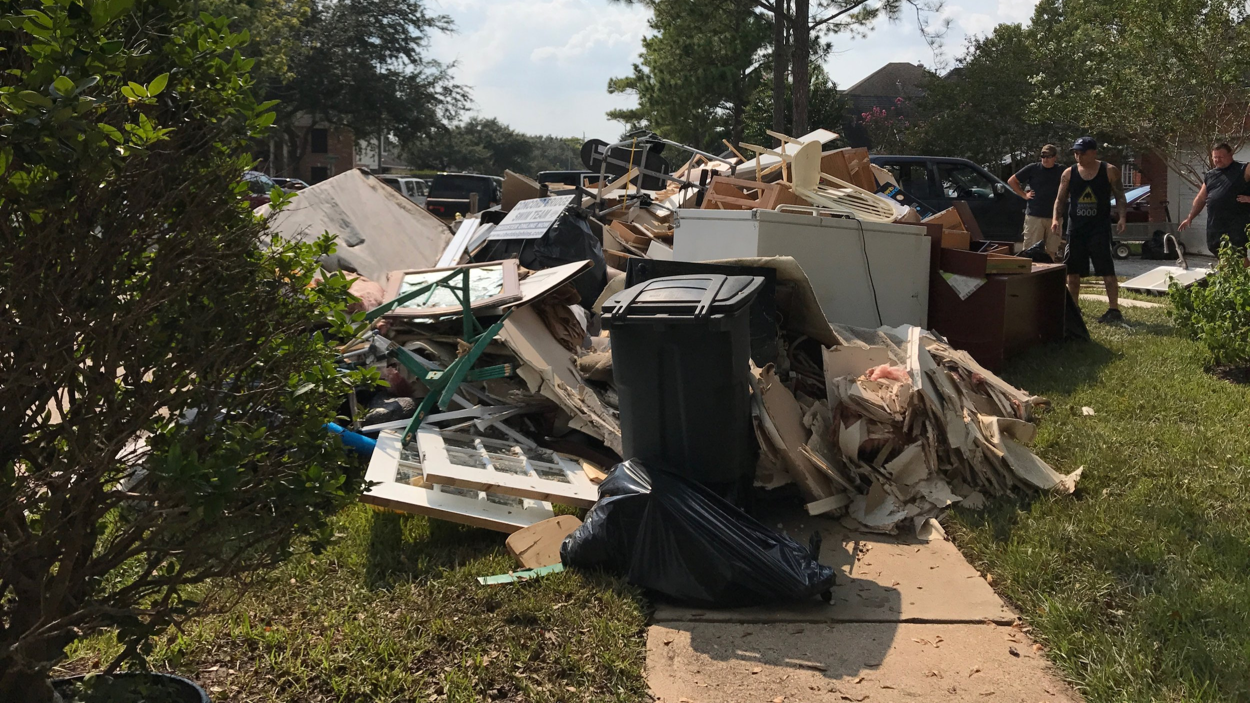 The aftermath of Hurricane Harvey in a Houston suburb. September 4, 2017.