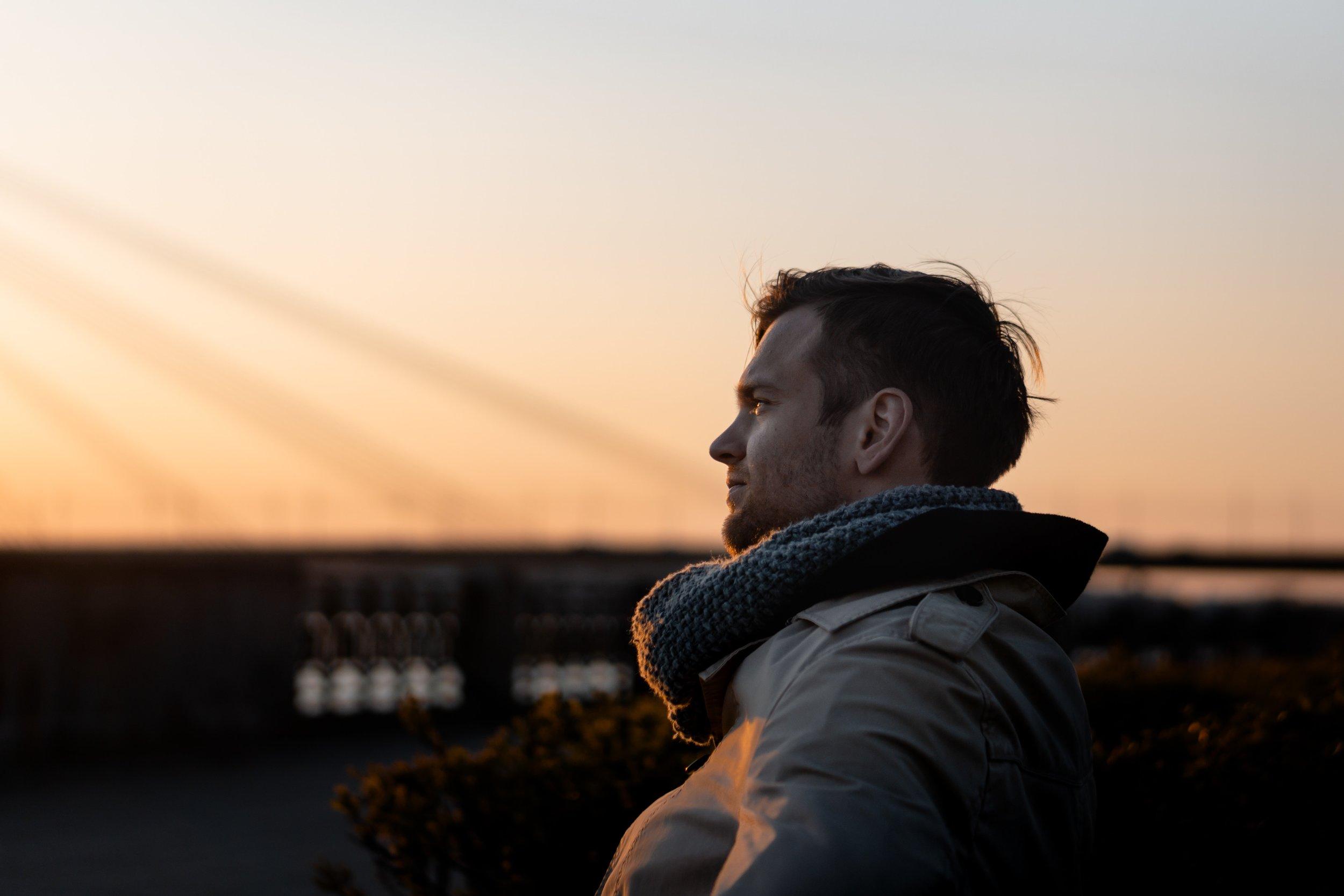 Image credit: https://www.pexels.com/photo/man-wearing-gray-coat-during-golden-hour-2214419/