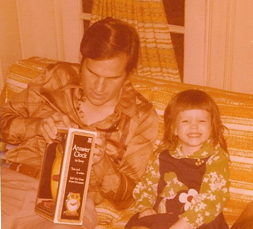 My dad and me in 1979. I think I was getting an alarm clock as a gift for my first day of kindergarten.