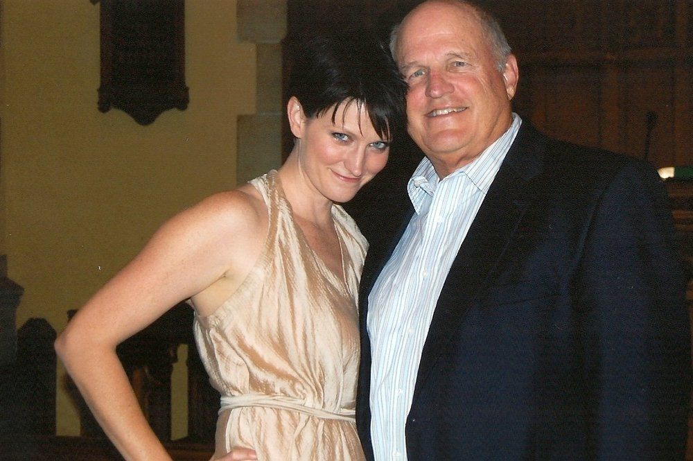 Dad and me in September 2011, at my brother's wedding rehearsal dinner.