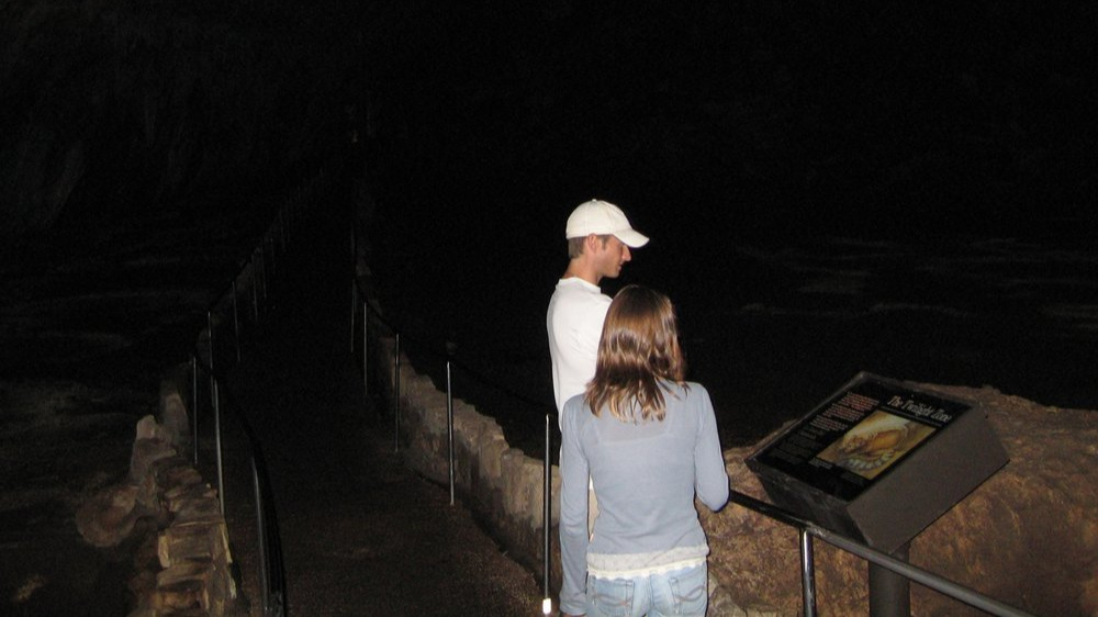 A man with whom I had a serious relationship--and his amazing daughter. Another issue with dating parents: You fall in love with their kids. Carlsbad Caverns. Summer 2008.