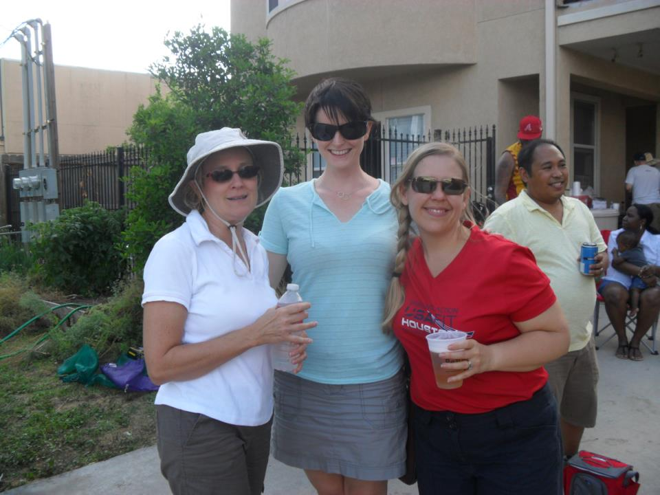 A couple friends and me, all in our sunglasses. Houston, Texas. March 2012.