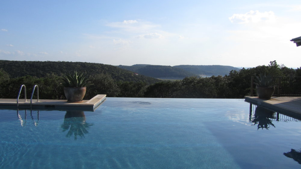 The pool at Travaasa Austin. Where peace should reign (and usually does). September 2012.