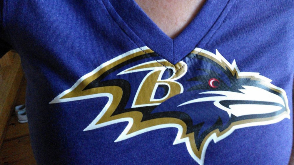 Me in my Ravens shirt. October 21, 2012.