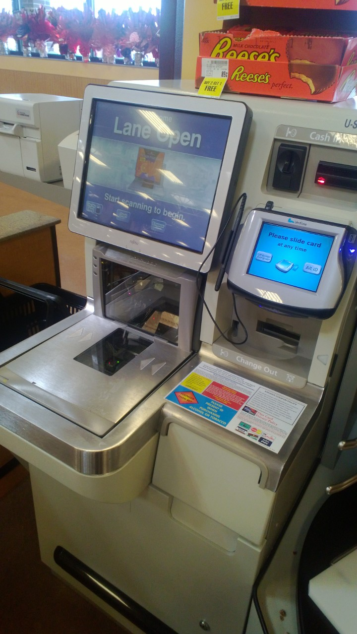 The self-checkout terminal I've mastered. January 2013.