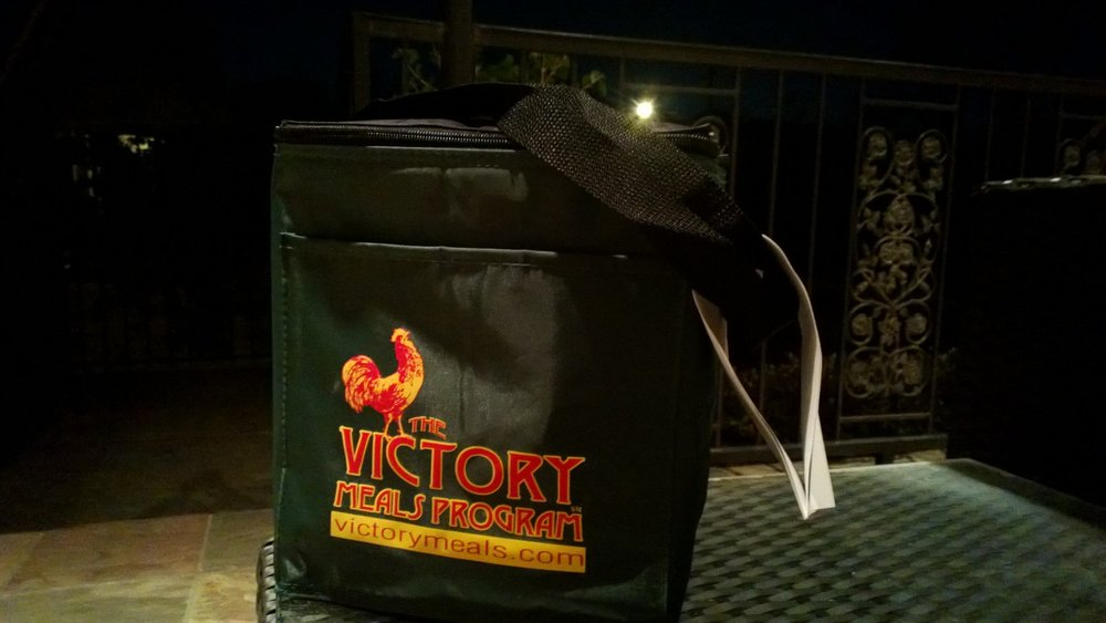 Victory Meals waiting for me on my front porch. January 2013.