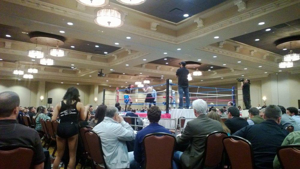 Boxing match at Houston's Bayou City Event Center. January 10, 2013.