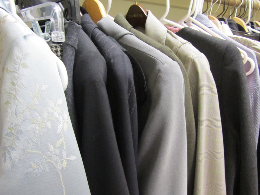 The portion of my closet dedicated to business suits. June 2013.
