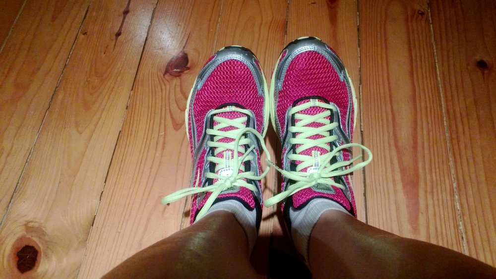 Geared up for a run. April 2013.