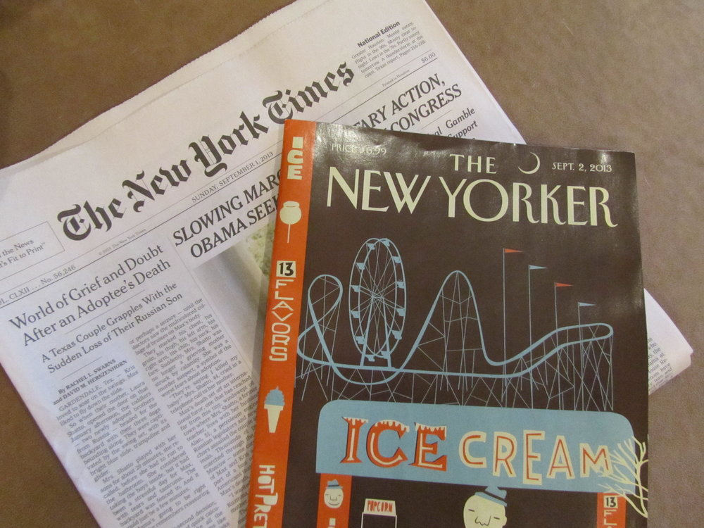 The New York Times  and  The New Yorker.  September 1. 2013.