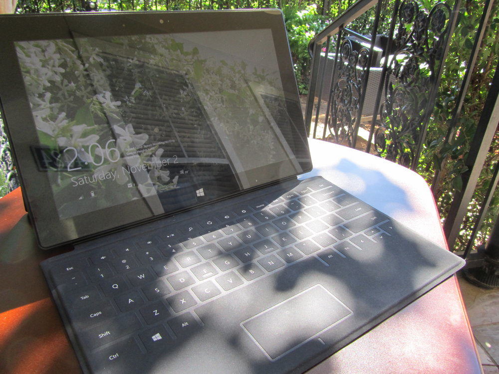 My Microsoft Surface RT in the garden. November 2, 2013.