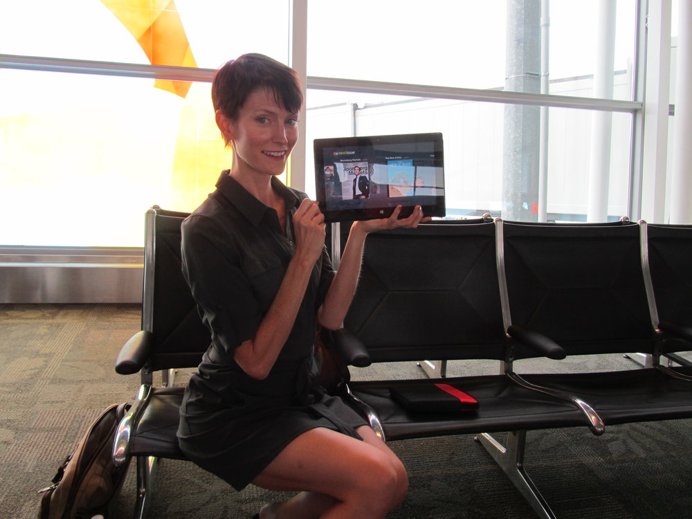 A super goofy picture of myself prior to boarding a plane from Indianapolis to Houston. July 2013.