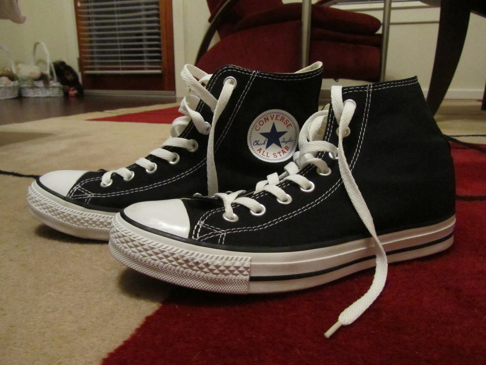 My new Chucks after their first public foray. January 3, 2014.