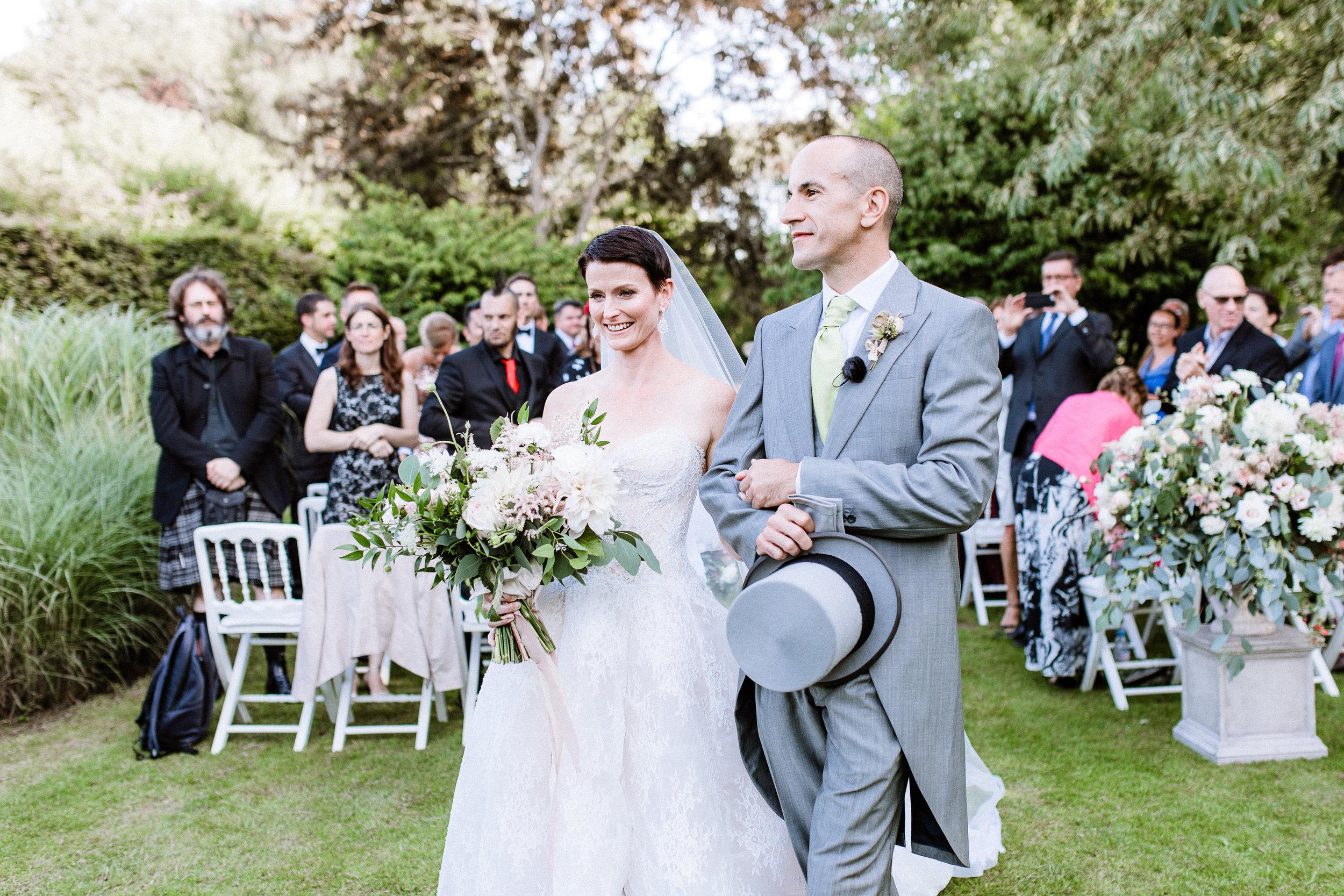 Just married. July 25, 2018. Les Jardins du Pays d'Auge, Normandy.
