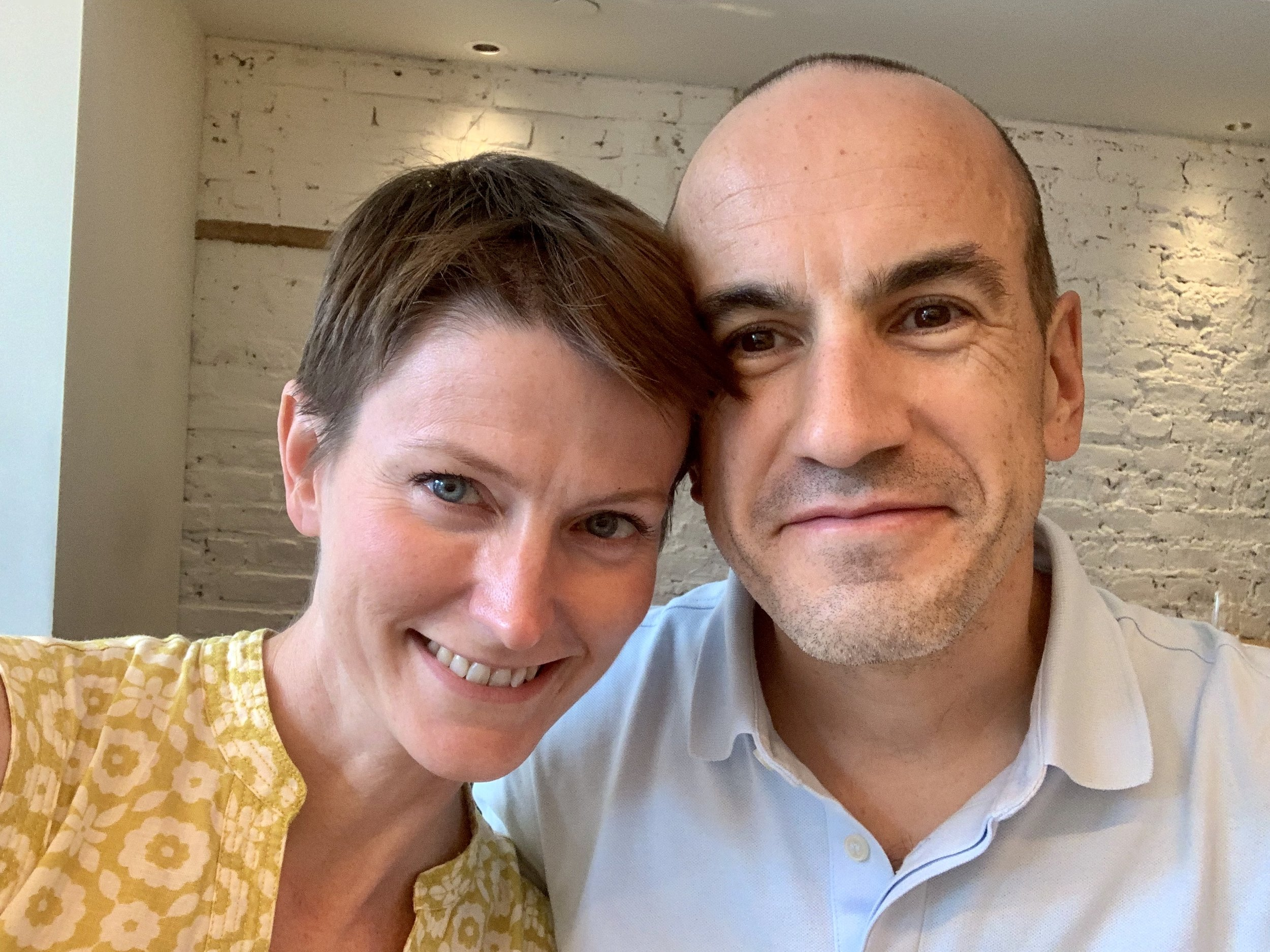 Arnaud and me at brunch at Loring Place. New York City, New York. July 28, 2019.