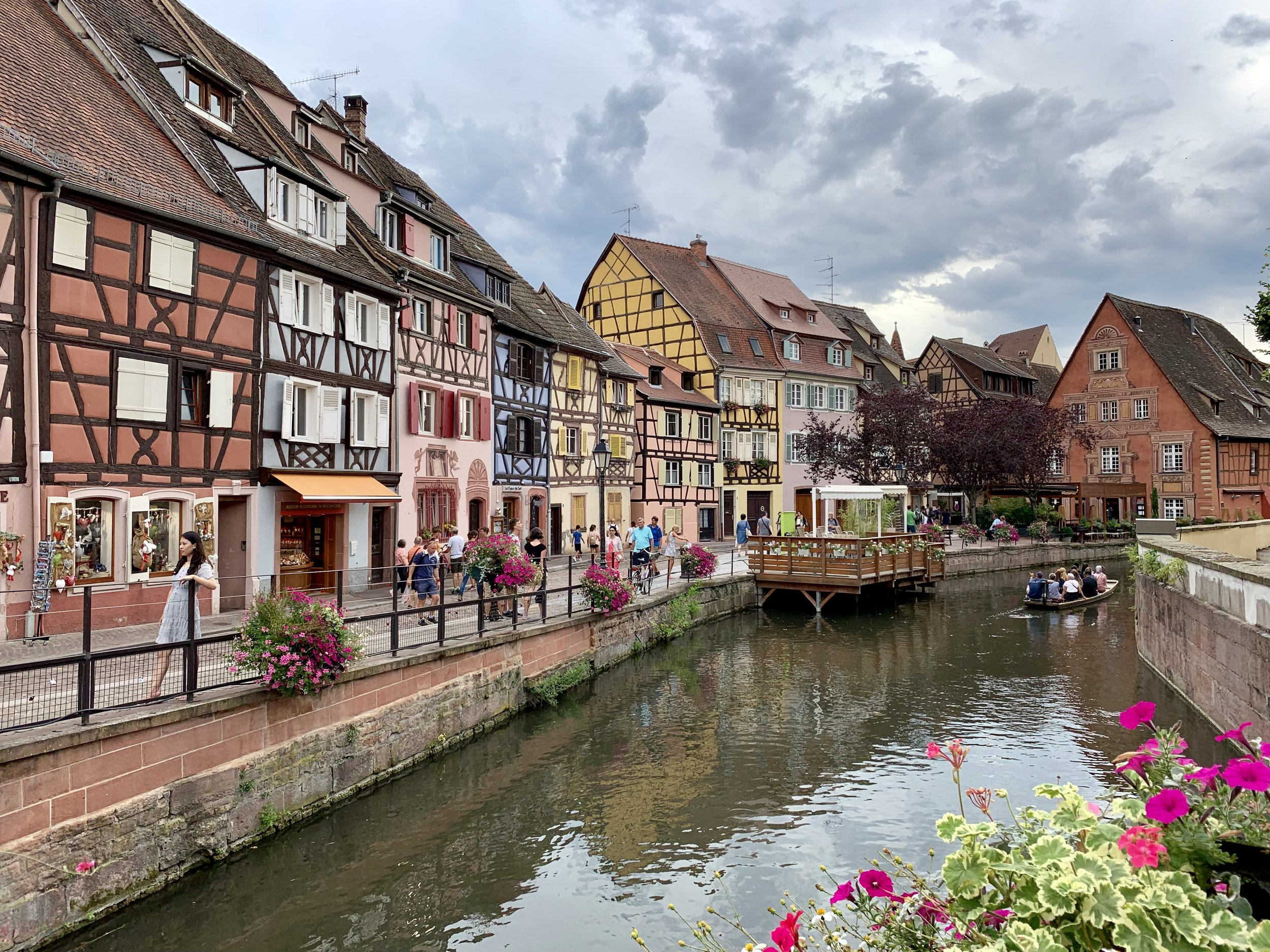 The Little Venice section of Old Town Colmar, France. August 9, 2019.