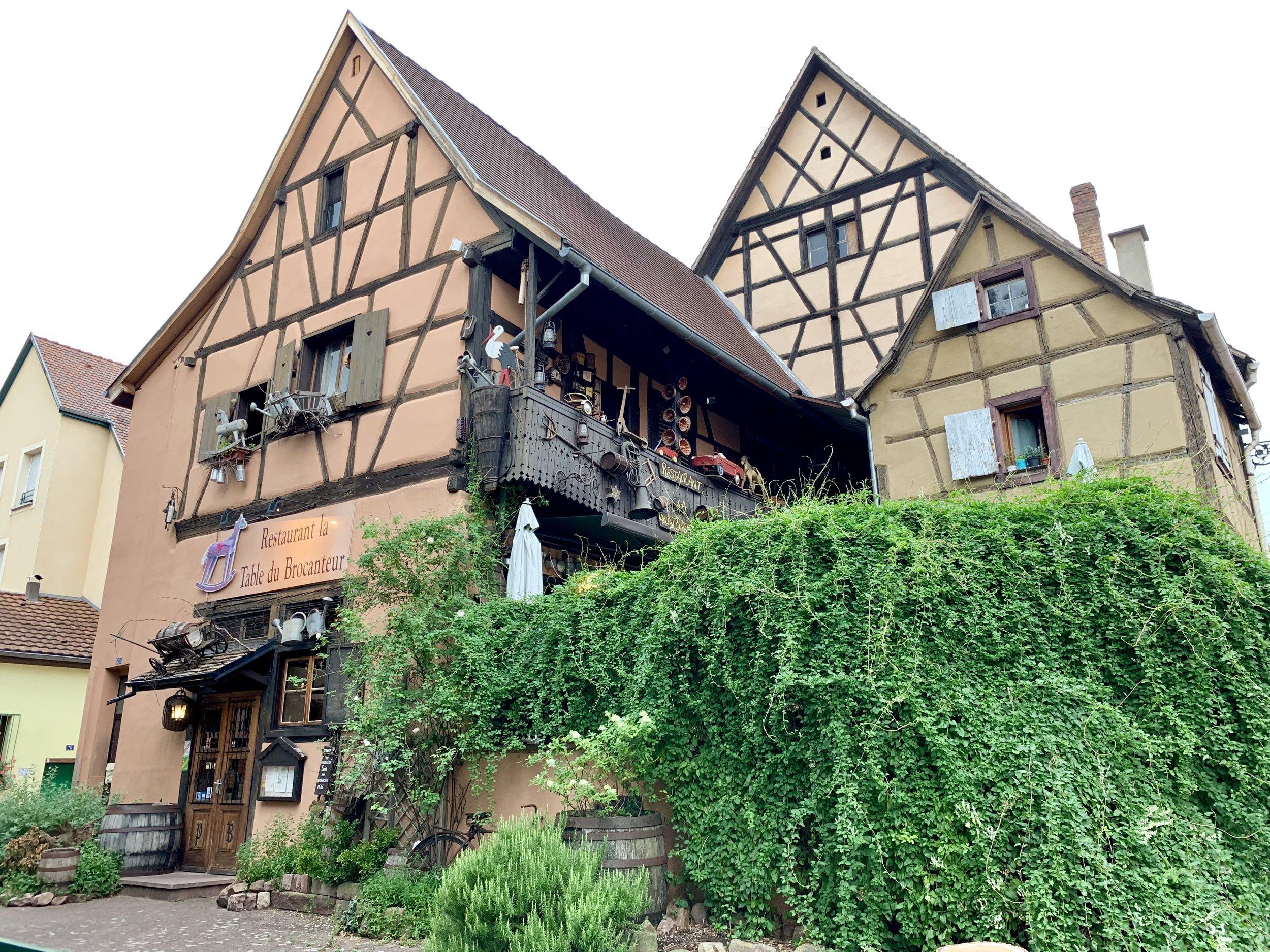 The Restaurant la Table du Brocanteur in Colmar, France. August 9, 2019.