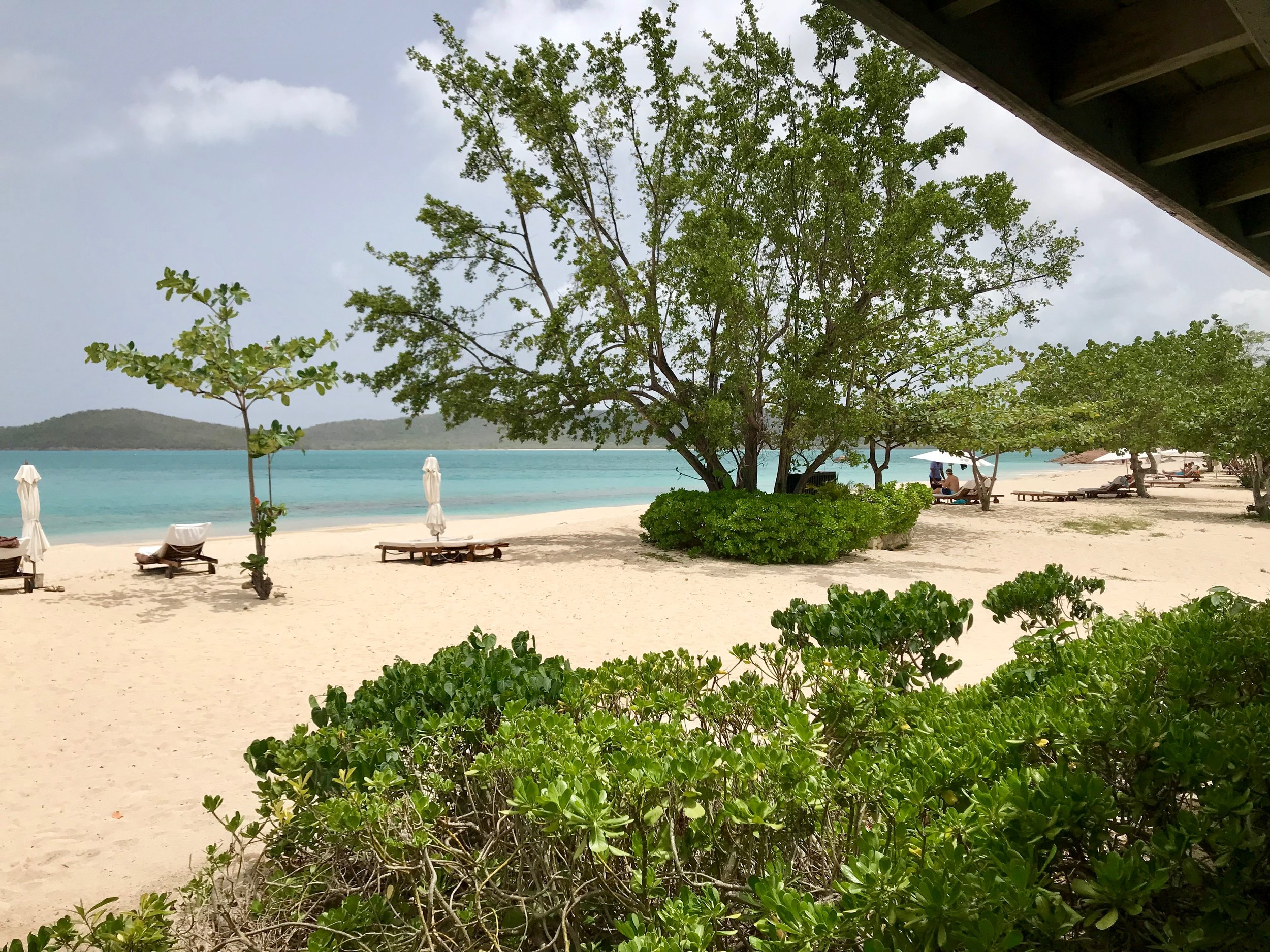 A view from the restaurant at Hermitage Bay in Antigua. August 6, 2018.