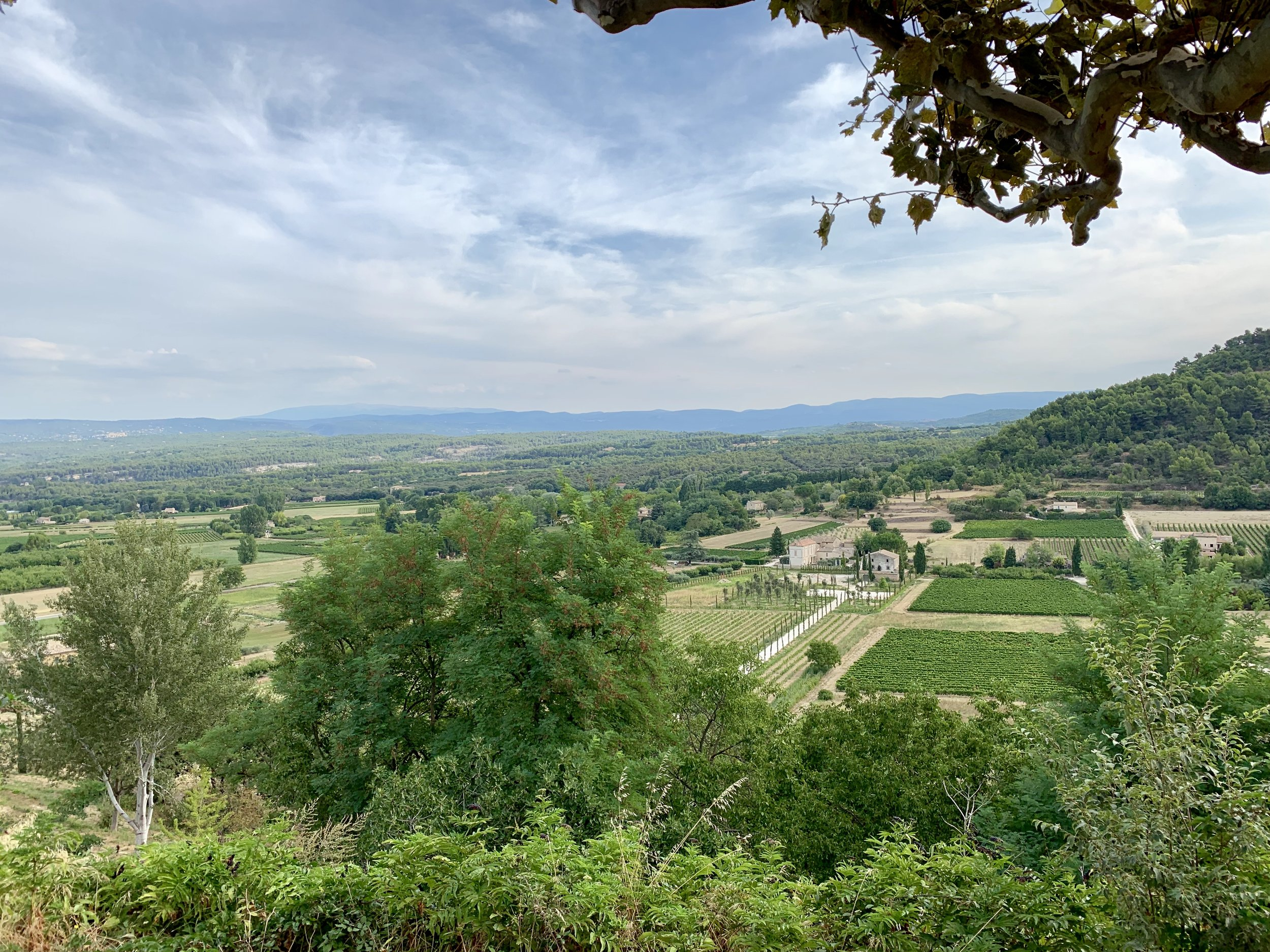 A view over Gordes, France, in the Luberon region. August 22, 2019.
