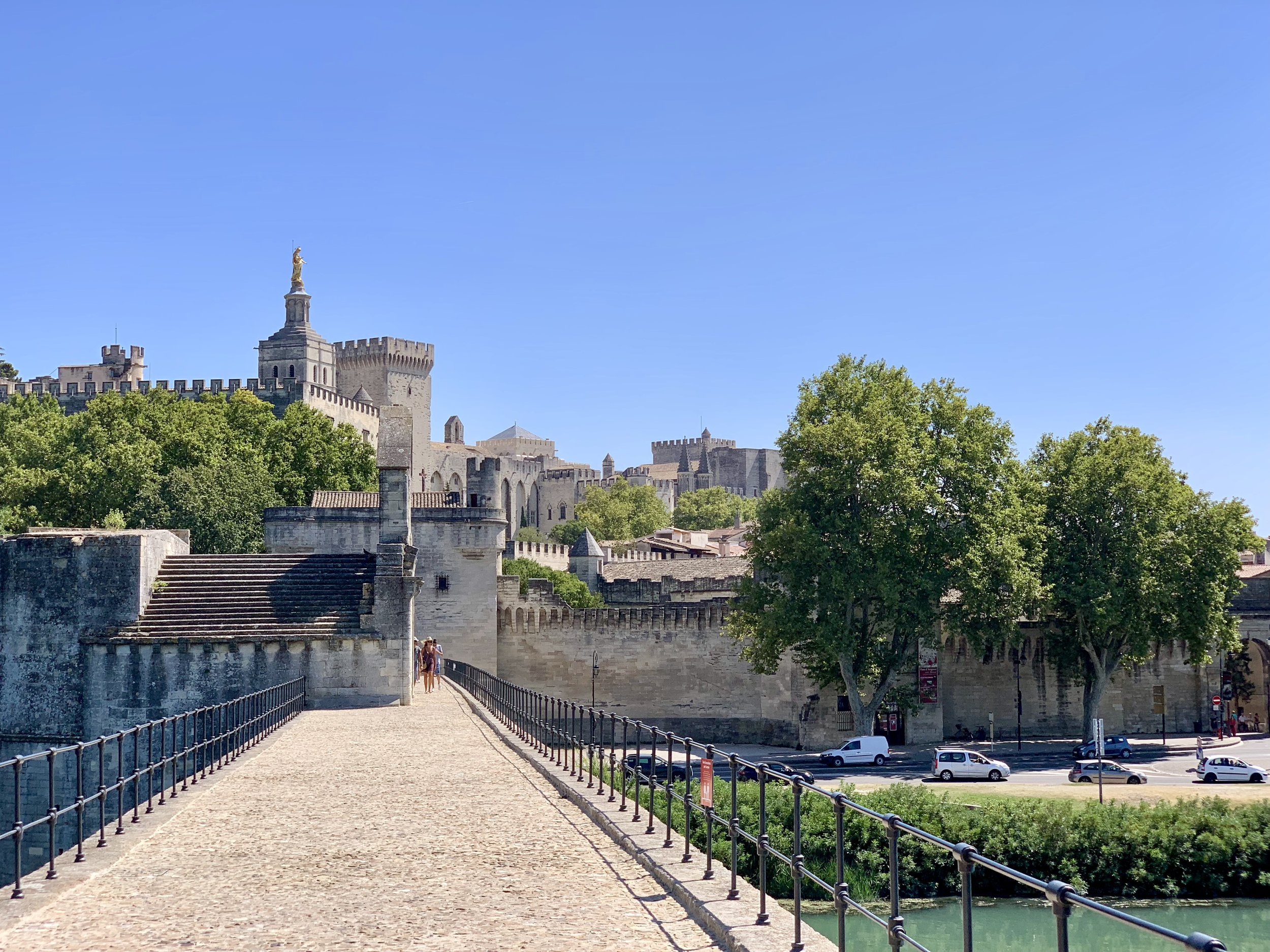 A view of Avignon from the Pont d'Avignon. August 24, 2019.