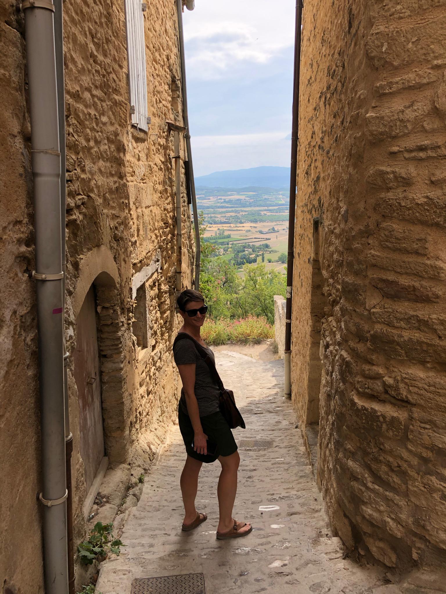 Me in Gordes, France. August 22, 2019.
