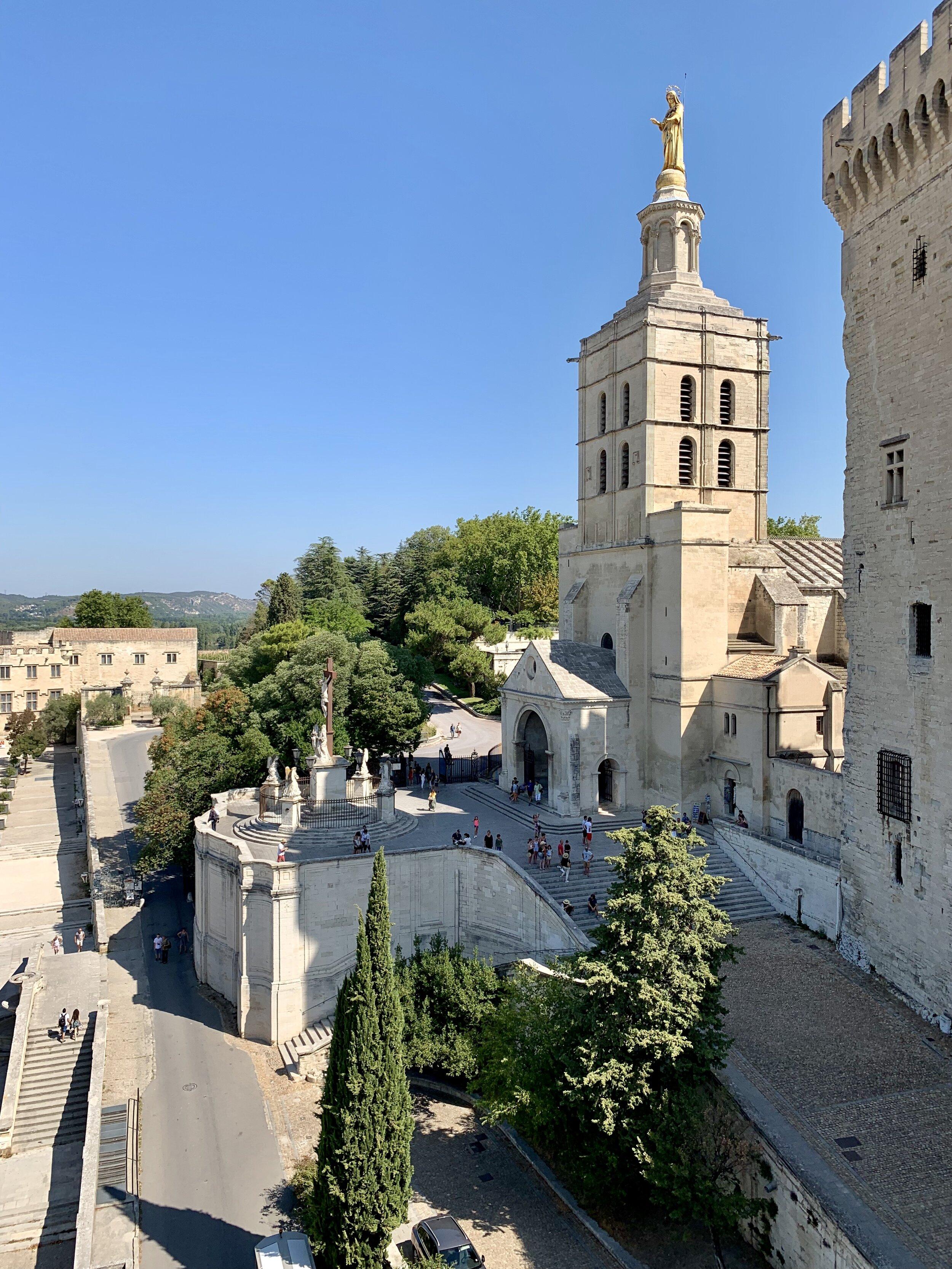 The Palais des Papes in Avignon, France. August 24, 2019.