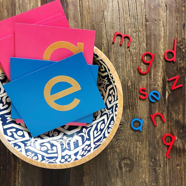 """What alphabet toys should you buy to help your toddler learn the ABCs? ⠀ Our culture puts a huge emphasis on """"letter recognition"""" during the toddler years and scrolling social media can leave you with the impression that you need all the things.⠀ ⠀ Thanks to the toy industry you can feel like you're depriving your toddler if you don't provide a variety of alphabet puzzles, blocks, flash cards, stamps, magnetic letters etc. And if your toddler isn't interested in those toys, you start thinking you need something new. ⠀ ⠀ But what if a lack of interest is actually just where your toddler is at developmentally and having a bunch of alphabet toys isn't going to make a difference? Maybe it's not that your toddler is """"bored"""" with what you've got, but that it's not the right time for your toddler to learn such an abstract concept.⠀ ⠀ Plus, learning the alphabet isn't even the first step to learning phonics!  Phonemic awareness needs to come first, and most children aren't developmentally ready for that until around 3 years old. ⠀ ⠀ If I were to go back in time to when my sons were preschoolers, it's only then that I would invest in a set of Montessori sandpaper letters and a moveable alphabet with the money saved from not buying all those random alphabet toys. 😉 ⠀ #playfulpathtoreading #montessoriathome #montessoripreschool #montessoriactivity #montessoriactivities #totschool #totschooling #learningthroughplay #toddleractivities #learnthroughplay #toddlerplay #preschoolathome #preschoolactivities #preschoolactivity #busytoddler #homeschoolpreschool #playtolearn #learnandplay #childledlearning #learnathome #montessoriinspired #letstotschool #letterrecognition #educationaltoys #handsonlearning #handsonactivities #learningletters #educationalplay #earlylearning"""