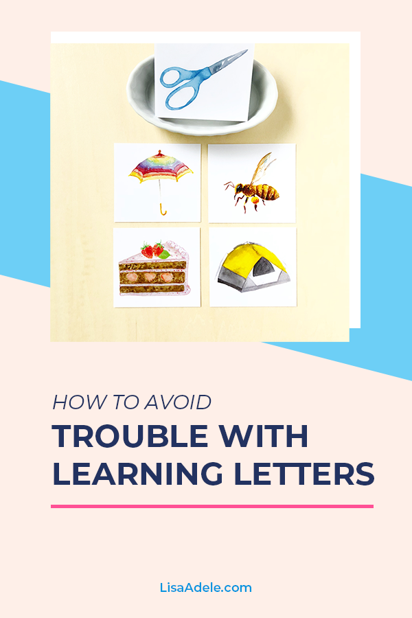 How to avoid trouble with learning letters.