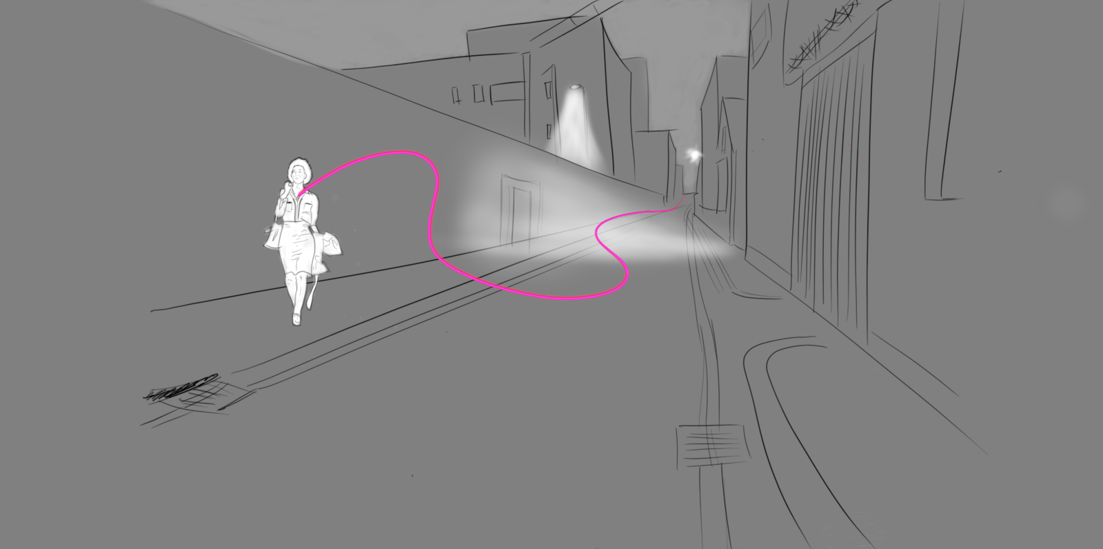 DIAGRAM 2 OF GPS LOCATION AND MESSAGE BEING SENT FROM DISCRETE WEARABLE JEWELLERY DEVICE
