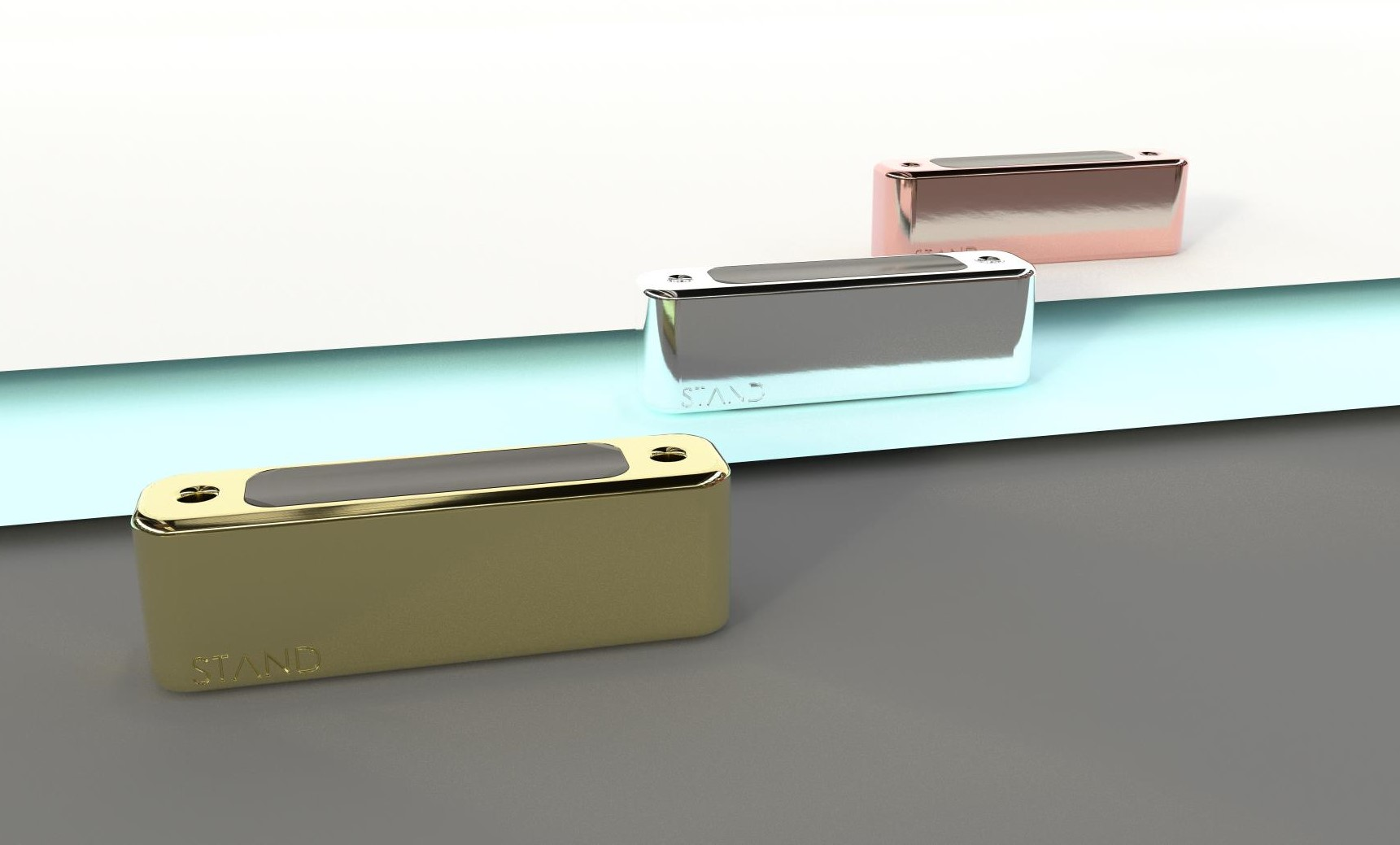 Three colour options of wearable safety device BOLD